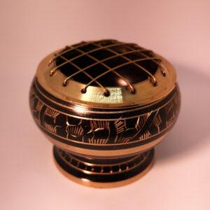 Black Brass Mesh incense burner
