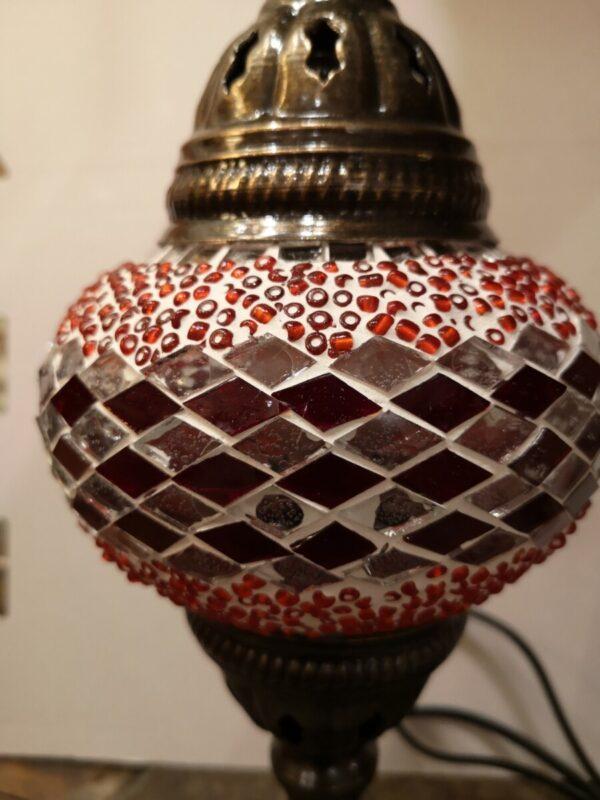 Turkish Mosaic Lamp Red and White