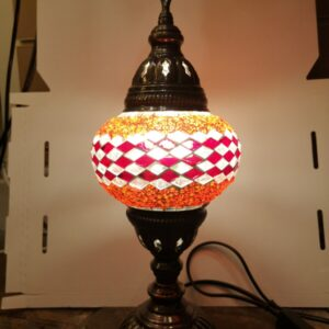 Turkish Mosaic Lamp Red and White